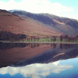 Buttermere still as a mill pond #buttermere #lakedistrict #lake #mountains #reflection #cumbria #igerscumbria