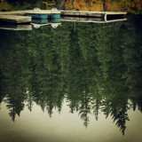 Tiny boat dock on a lake in Sisters, OR