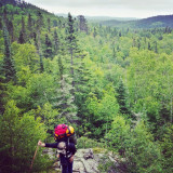 Hiking into the Canadian wilderness