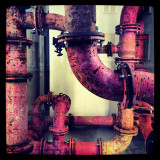 Close-up of rusty pipes