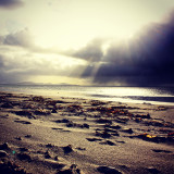 The Sound of Barra... Heavy showers on the way. View from Daliburgh beach.
