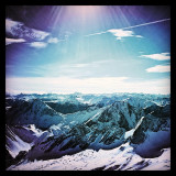 Beautiful panorama at the top of germany - Zugspitze