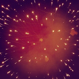 My Mobile Camera was struggling to find focus on the dark sky during the firework and ended up in this. The firework was related to a South Indian local festival called