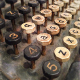 Close up of typewriter keys