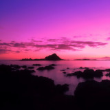 Pink skies over Island Bay...