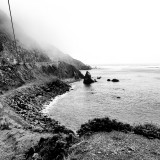 Along the Pacific Coast Highway shoreline somewhere between LA and San Francisco.