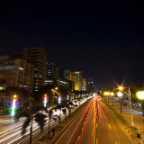 Roxas Boulevard at night.