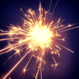 Close up of sparkler at night