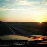 Sunset in the old maverick