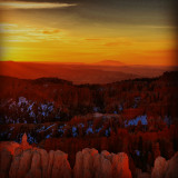 Sunrise at Bryce Canyon, Utah.
