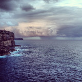 Diamond Bay Cliffs, at Sunset, before the storm.