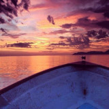 In a boat in Loretto, Baja, MX, watching the sunset.