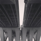 Caught in the middle. Woodrow Wilson Memorial Bridge, Alexandria, VA