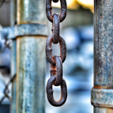 Chain links, close up