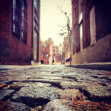 Cobblestone in alley