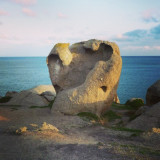 Impressive rock formation in Victor Harbour, South Australia