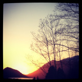 The sunset from Åmdalen. Fantastic veiw after a sunny day.