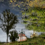 Reflection of the church in the lake