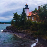 Lighthouse on Lake Superior, Michigan. On the upper peninsula. ❤️There's nothing like travel to help me see things in a different perspective.