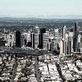 Brisbane City from 1000'