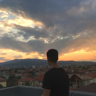 Photography, sunset, teenager, clouds, rooftop, beautiful