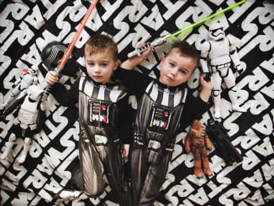Little boys and a Star Wars obsession