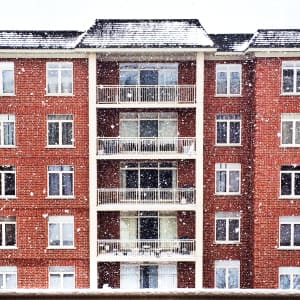 Red brick apartment building