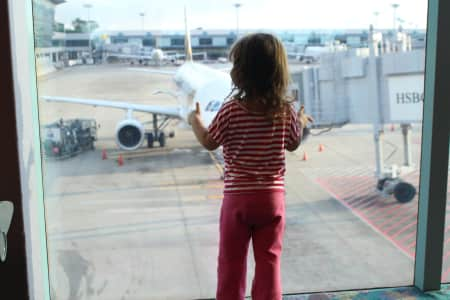 waiting for her flight :)