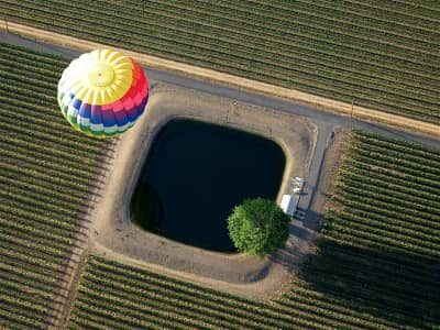 Hot air ballooning in Napa
