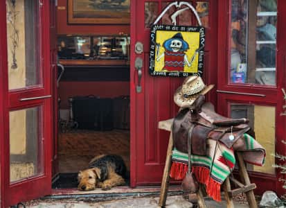 This photo was taken of a shop in Madrid, New Mexico.
