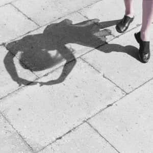 Dancing with her shadow