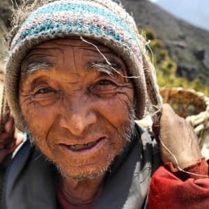 Stoic Sherpa. I took this picture backpacking to Mt. Everest. in Nepal