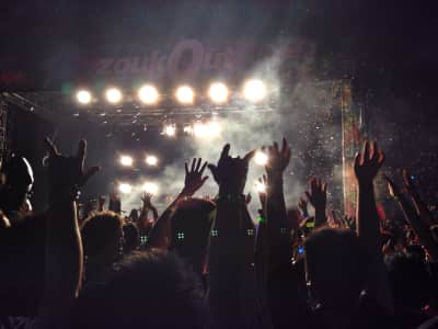 ZoukOut: a massive annual rave event at Siloso Beach in Singapore.