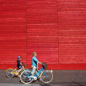 No biking at the red wall