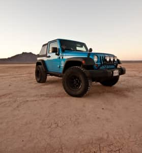 Jeep Wrangler in the desert