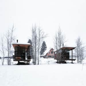 The Rolling Huts of Mazama,Washington