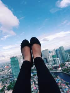 My feet against this concrete jungle