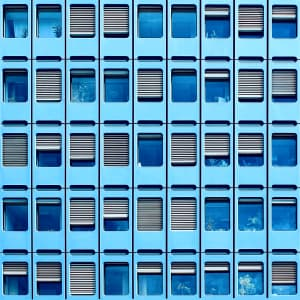 | Blueness |  There's a story behind every window