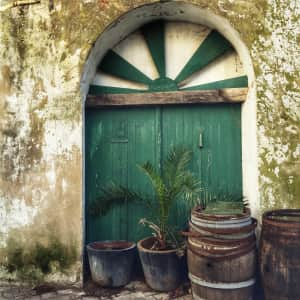 Old door on isle of Ré. France