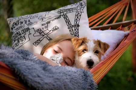 Napping in the hammock