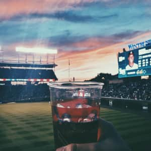 Sunset at Wrigley Field