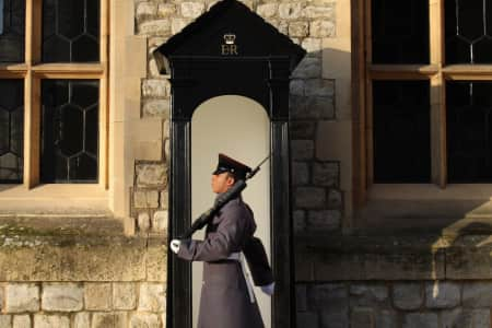 British guard at the Tower of London