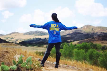 UCLA pride in Southern California hills