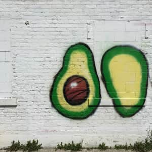 Here's a fun picture of a wall and avocado