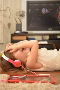 Listning to music