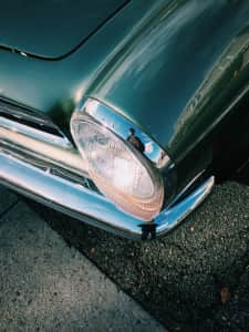 Old Mercedes headlamp