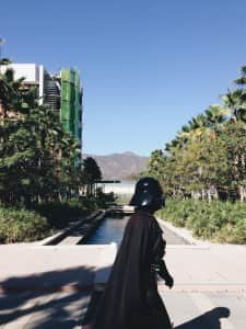 Darth Vader goes to work