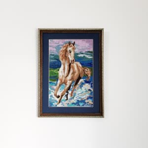 Horse picture. Made by hand