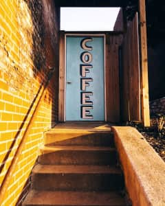 Coffee door.