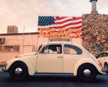 German cars and American flags